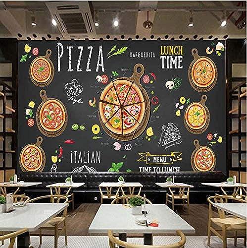 descuentos y mas JUAN Mural Tienda De Pizza Pintado Pintado Pintado A Mano Pizza Abstracta Papel Tapiz Fotográfico 3D Cafe Dessert Shop Restaurante Occidental Pintura De Parojo 208 Cm  146 Cm  ¡no ser extrañado!