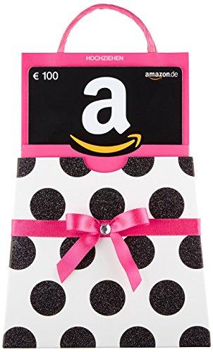 Amazon.de Geschenkkarte in Geschenkkuvert - 100 EUR (pinke Schleife)