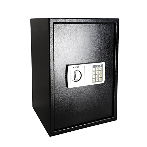 ROVSUN 1.8 CF Electronic Security Safe Box, Large Digital Cabinet with Keypad Lock & Solid Steel, Perfect for Home Office Hotel Business Cash Jewelry Wallet Valuable, Battery Included
