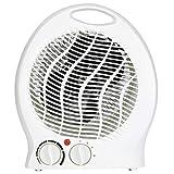 Slabo Chauffage électrique par Ventilateur 2000W Chauffage par radiateur 2X étages de Chauffage (1000/2000W) | 1x Ventilateur d'étage Froid | arrêt Automatique en Cas de Renversement | - Blanc