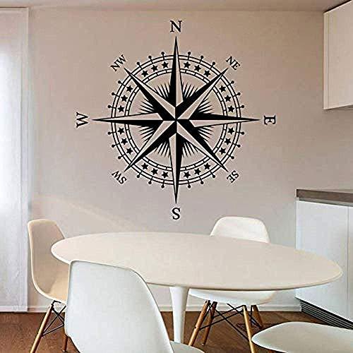 Kompass Wandtattoo Aufkleber Wandbild Kind Teen Zimmer Wohnzimmer Dekoration Vinyl Home Dekoration Aufkleber in 57X57Cm