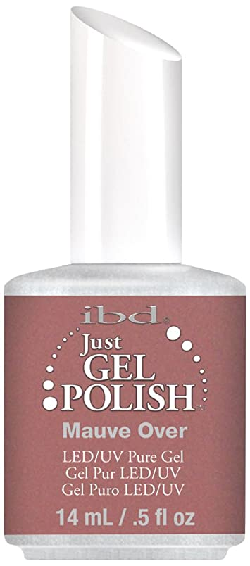 ぬれた蓋赤道IBD Just Gel Polish - Mauve Over - 0.5oz / 14ml