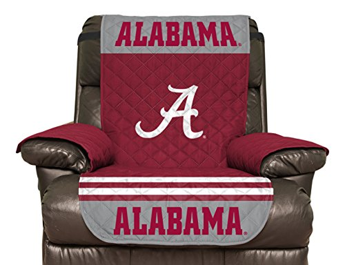 NCAA Alabama Crimson Tide Recliner Reversible Furniture Protector with Elastic Straps, 80 X 65 Inches