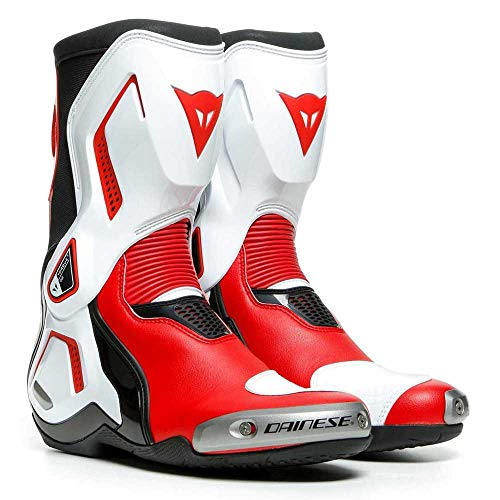 Dainese Torque 3 Out Mens Motorcycle Boots Black/White/Lava Red 46 EUR/12.5 USA