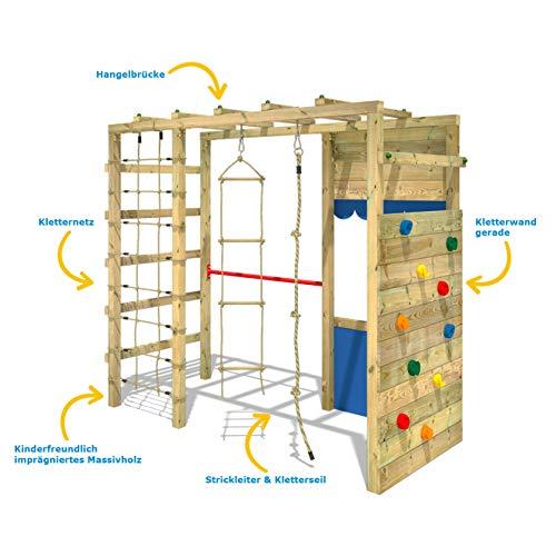 WICKEY Spielturm Klettergerüst Smart Action mit blauer Plane, Gartenspielgerät mit Kletterwand & Spiel-Zubehör - 7