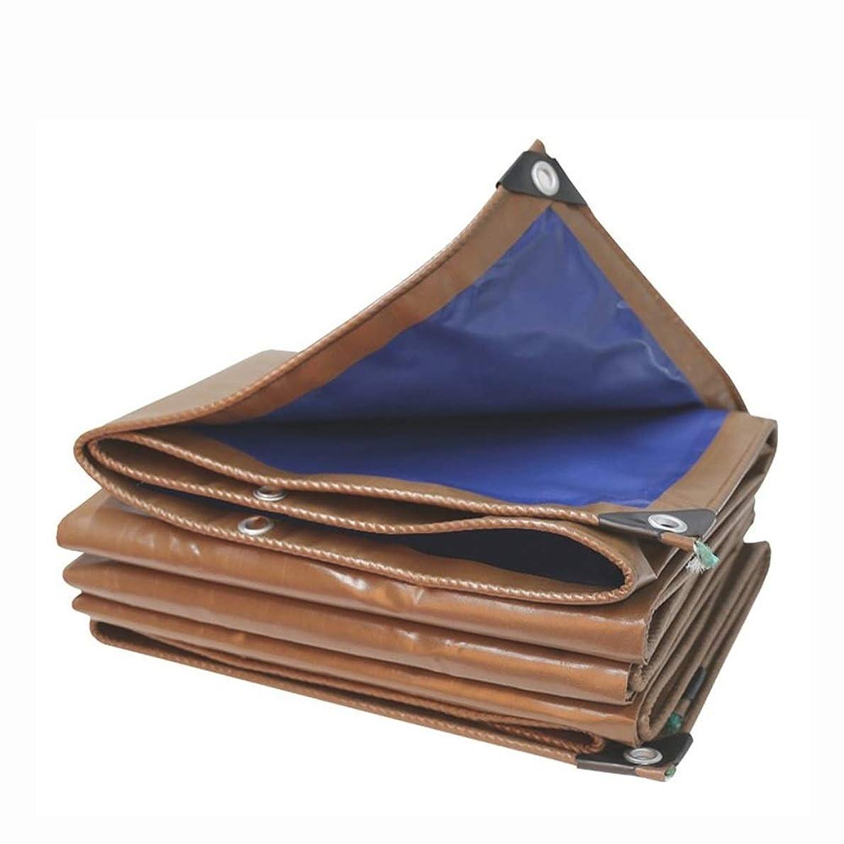 ピアース横にメダリストHPLL 多目的防水シート 0.45mm防水布、屋外ブルー/コーヒー耐火ターポリン防水防塵シェーディングキャンバスターポリンを厚くします。 防水シートのプラスチック布,防雨布 (Size : 2m×3m)