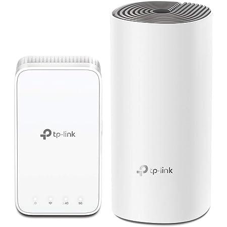 TP-Link Deco E3, Router/Puntos de Acceso + Repetidor, Sistema Wi-Fi de Malla para Todo el hogar AC1200, Dos 100/10 Mbps Puertos, WiFi Mesh hasta 223 ㎡, Compatible con Alexa