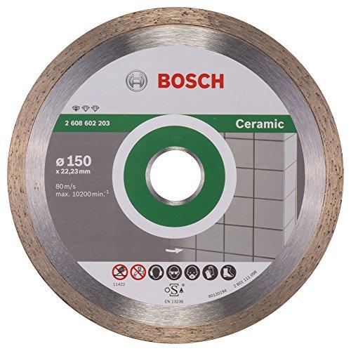 Bosch Professional Diamanttrennscheibe Standard für Ceramic, 150 x 22,23 x 1,6 x 7 mm, 1-er Pack, 2608602203