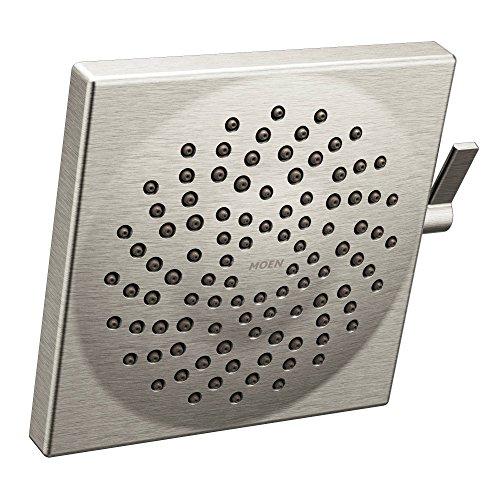"Moen S6345BN Velocity Two-Function 8.5"" Diameter Spray Rainshower Showerhead, Brushed Nickel"