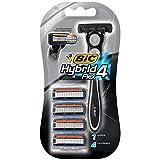 BIC Hybrid 4 Flex Disposable Razor, 1 Handle + 4 Cartridges