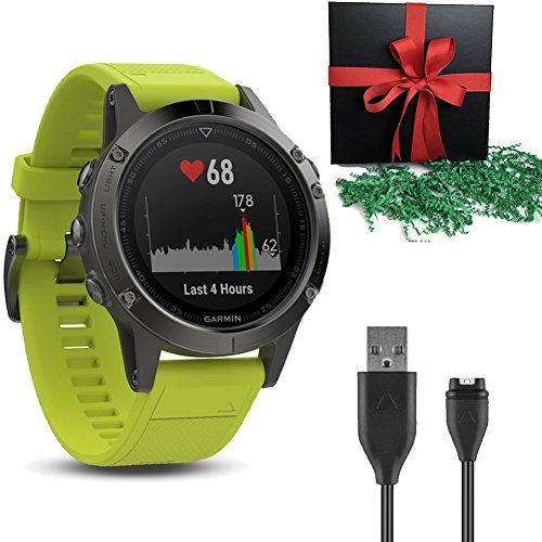 Garmin Coffret Cadeau Montre GPS de Golf Fenix 5 Gris...
