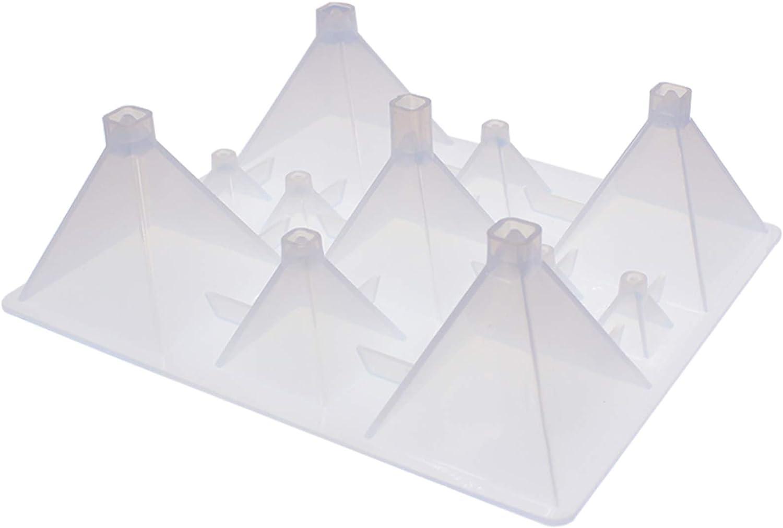 Funshowcase Square Pyramid Popular brand in the world Nashville-Davidson Mall Geometric Silicone Mold 11-Cavi Resin
