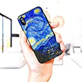 TMVFPYR Vincent Van Gogh The Starry Night Compatible with iPhone Xs Max Case, Soft Sided Hard Shell Anti Scratch Shockproof Protective Cover