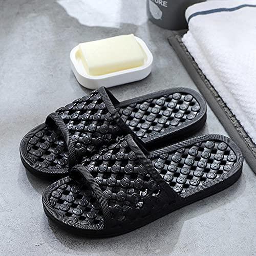LLGG Ciabatte da Doccia Ragazza Ragazzo,Pantofole scorrevoli in Pantofole, Sandali in plastica da Bagno-Nero_42-43,Pantofole da Bagno Unisex Antiscivolo
