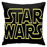 longdai Fundas de cojín decorativas cuadradas de Star Wars para sofá, sala de estar, sofá cama, con cremallera invisible, 45 cm x 45 cm