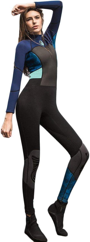 SANANG SANANG SANANG Damen Volle Wetsuits Premium 1,5 mm Neopren Langarm Langes Bein Zurück Reißverschluss für Tauchen Schnorcheln Schwimmen B0796RR9QQ  Modebewegung 846bb2