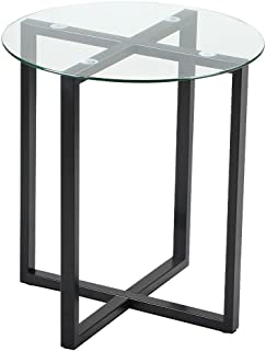 Amazon.com: Clear - Glass / End Tables / Tables: Home & Kitchen