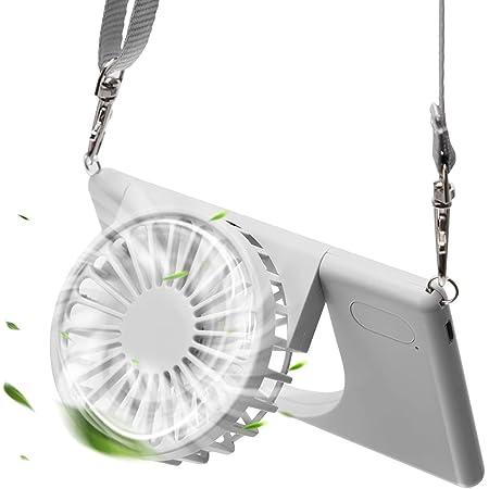 LETOUR - Mini Ventilateur Portable USB - 3 Vitesses rotatives à 90° - Ventilateur USB réglable - pour Enfants, Femmes, Hommes et Enfants, Voyage, intérieur et extérieur - avec Cordon