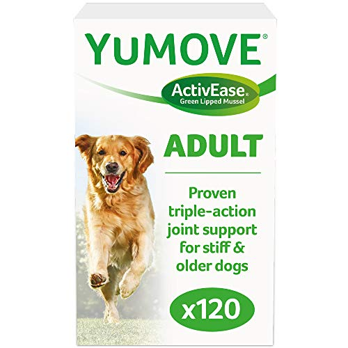 Lintbells | YuMOVE Adult Dog | Essential Hip and Joint Supplement for Stiff Dogs | Aged 5 to 7 | 120 Tablets