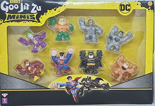 Heroes Of Goo Jit Zu Minis DC Comic Figures Set of 8 Including Ultra Rare Gold Batman