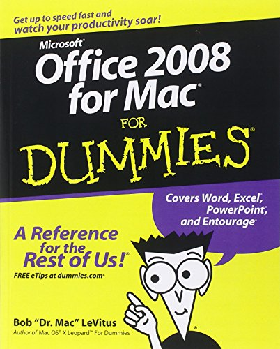 Office 2008 for Mac For Dummies (For Dummies Series)