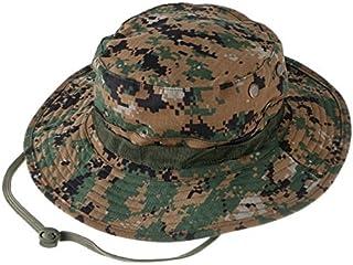 JWl Camuflaje al Aire Libre Sombrero de Camuflaje de Ocio Borde Redondo Sombrero de Benin Sombrero de ala Ancha de Camuflaje Sombrero Redondo Sombrero de Sol de Pesca