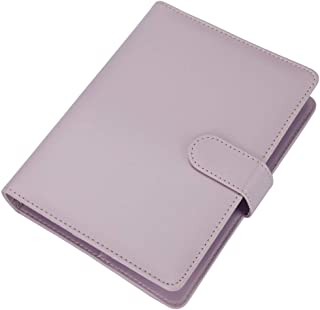 A5 Planner,A5 6-Ring Binder,Spiral Notebook Personal Organizer with Magnetic Button Harphia (Lavender, A5 9.06 x 7.28'')