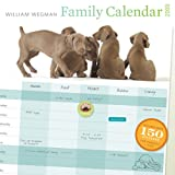 William Wegman Busy Family Planner 2009 Wall Calendar: With Stickers