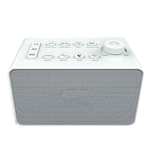 AIPZDJ White Noise Machine USB Wiederaufladbar Zeitlich Festgelegt Schlafen Soundmaschine mit 8 Entspannung Beruhigend Geräusche zum Baby Erwachsene Büro Reise