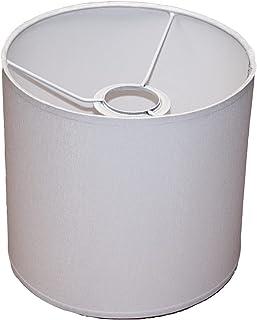 Abażur 190X180 mm średnica x wysokość   Walec   Bawełna biała   Pod oprawkę E27 (dużą)   Do lamp stołowych, podłogowych i ...