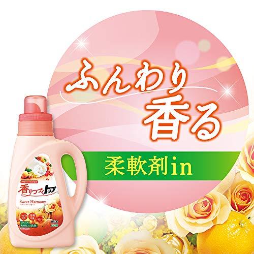 香りつづくトップスウィートハーモニー蛍光剤無配合柔軟剤入り洗濯洗剤液体本体850g