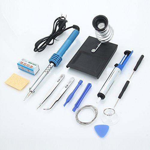 Buy 14PCs Soldering Iron Kit, Soldering Iron 60W, Soldering Iron Stand, Desoldering Pump, Tweezers, ...