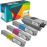 Cartuccia toner Do it wiser compatibile in sostituzione di Oki C510 MC561DN C511DN C531DN C510DN C530DN C511 C531 MC561 MC562 MC562DN MC562DNW MC562W (Confezione da 4)