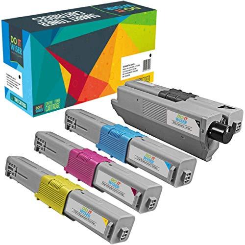 Do it Wiser Kompatible Toner als Ersatz für Oki MC362dn C531dn C511dn MC562 MC352 C310 C312dn C330 C331dn MC351 MC361 C510dn C530 MC561 (4er-Pack)