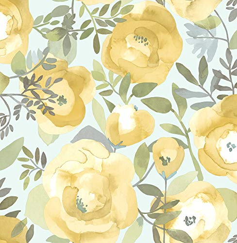 NuWallpaper NU3036 Peachy Keen Yellow Peel & Stick Wallpaper