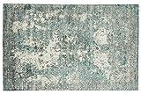 Moderna alfombra Loom de seda de bambú, 170 x 240 cm, tejida a mano, color azul