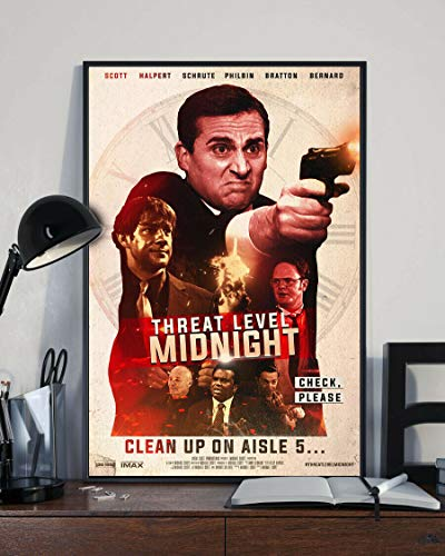 Threat Level Mid.Night Movie TV Poster Hot - No Frame (24 x 36)