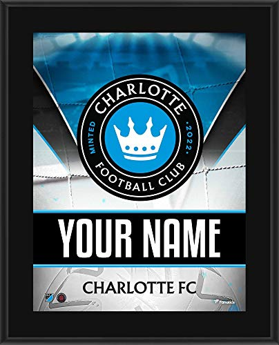 """Charlotte FC 10.5"""" x 13"""" Personalized Sublimated Team Logo Plaque - Soccer Plaques and Collages"""