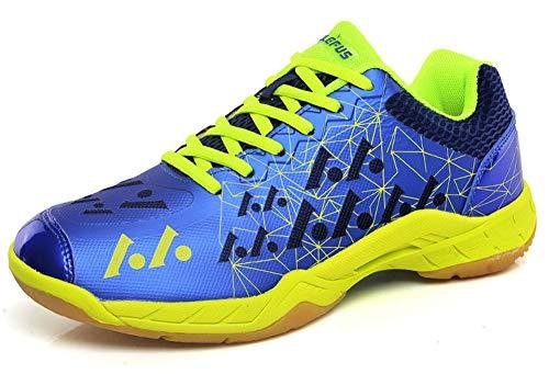 SMXX Herren Badminton Schuhe Indoor und Outdoor Sportschuhe Paar Modelle (38 EU, Blau-6)