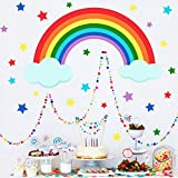 Zoom IMG-2 2pcs adesivo murale bambin arcobaleno