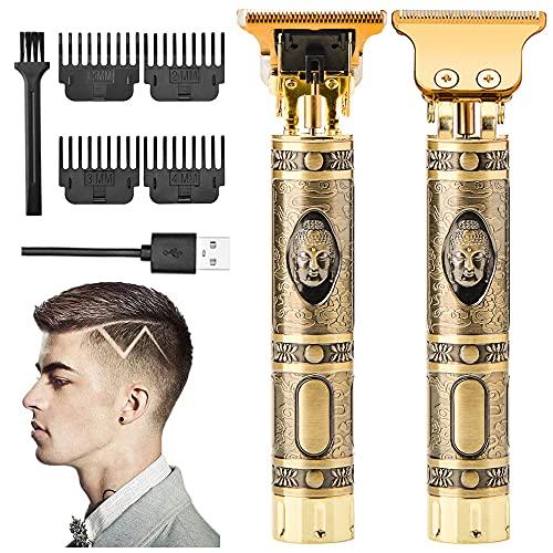 VUENICEE Tagliacapelli Uomo Professionale,Elettrica Tagliacapelli Hair Trimmer T-Outliner USB Ricaricabile Impermeabile con 4 Pettini per Diverse Lunghezze di Taglio