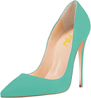 9119cd1d2f FSJ Women Sexy Suede Pointed Toe Pumps 12 cm High Heels Stilettos Prom Shoes  Size 4