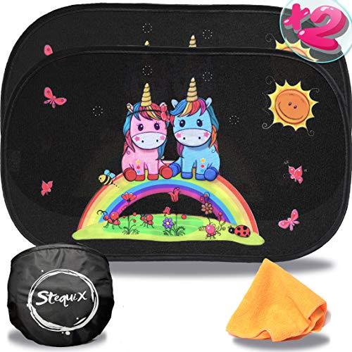 Parasol Coche Infantil protección UV Unicornio Sombrillas A