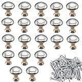 Perillas De Gabinete Perillas De Cajón,20 Piezas Perillas Redondas Para Muebles Tiradores Para Armarios Manijas De Cajones Para Armarios, Cajones De Oficina, Perillas De Puertas