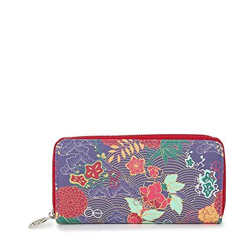 Cloe - Cartera con Cierre Sencillo Grande Color Rosa para Mujer Estampado Floral