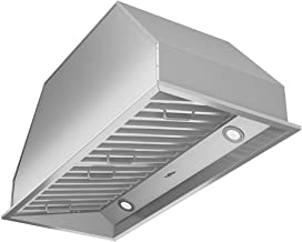 """Ancona AN-1313 Chef Series Built-in 34"""" Ducted 600 CFM Insert Range Hood with LED Lights, Silver"""