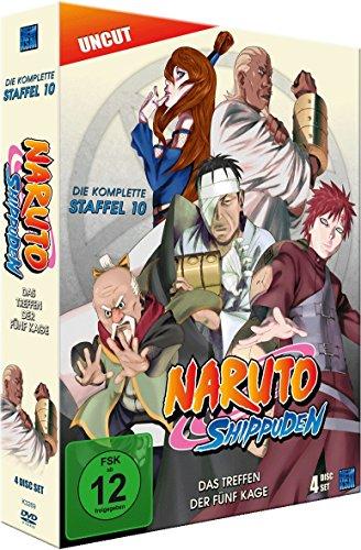 Naruto Shippuden, Staffel 10: Das Treffen der fünf Kage (Episoden 417-442, uncut) [4 DVDs]