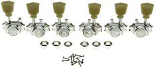 KAISH 3x3 Vintage Style Guitar Locking Tuners Guitar Tuning Keys Pegs Guitar Lock Machine Heads for Les Paul Guitars Nicke...