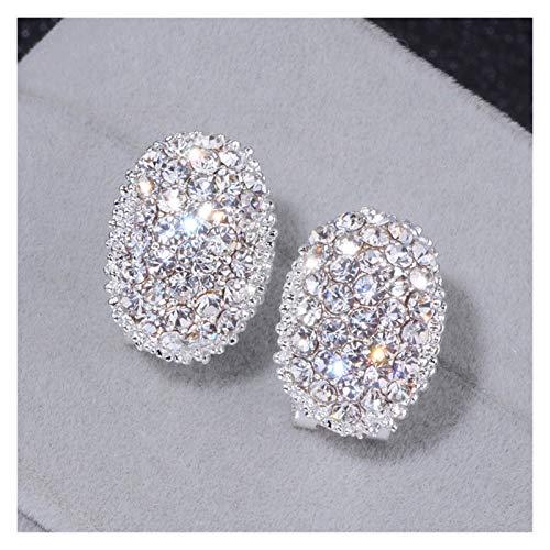 JINGGEGE Classic Design Romantic Jewelry 2021 Moda AAA Cubic Zirconia Stud Pendientes Pendientes para Mujeres Elegante Joyería de Boda Regalo (Color : 1)