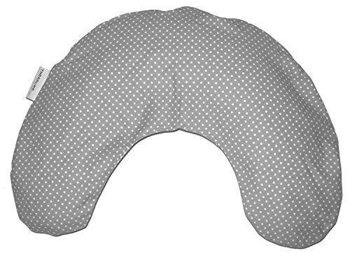 Theraline Nackenkissen mittel, Mikroperlenfüllung inkl. Bezug ca. 100 c, x 21 cm, Punkte grau